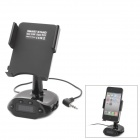 FM Transmitter with Car Charger / Holder Mount for iPhone / iPad - Black