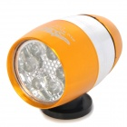 Mini Bicycle Bike 2-Mode 6-LED White Light Lamp - Yellow (2 x CR2032)