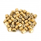 Two-Way M3 x 5mm Hexagonal Hohle Copper Pillars - Golden (50 PCS)