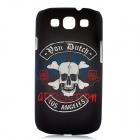 Skull Style Protective Plastic Case for Samsung i9300 Galaxy S3 - Black + White