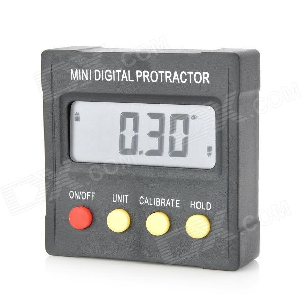 "Mini 1.7 ""LCD Digital Transferidor w / Magnet - Preto (2 x CR2032)"
