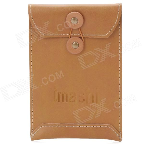 все цены на Genuine Cow Leather Flip Protective Pouch Case for Iphone - Brown онлайн