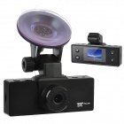 "1.5"" TFT 5.0MP Wide Angle Car DVR Camcorder w/ USB / AV-out / Mini HDMI - Black"