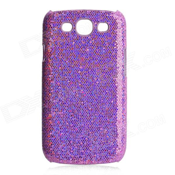 Protective Glittery Paillette PC Plastic Case for Samsung i9300 Galaxy S3 - Purple fashionable protective bumper frame case with bowknot for samsung galaxy s3 i9300 black