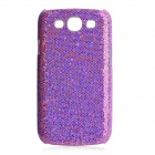 Protective Glittery Paillette PC Plastic Case for Samsung i9300 Galaxy S3 - Purple