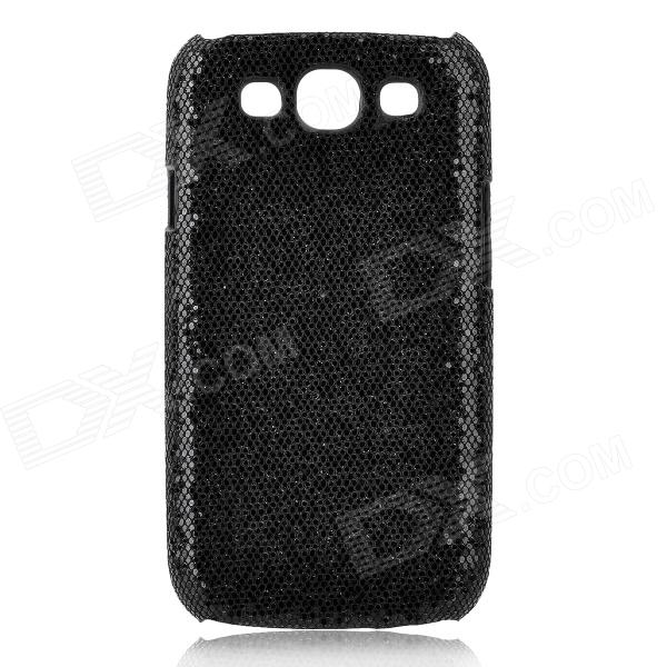 Protective Glittery Paillette PC Plastic Case for Samsung i9300 Galaxy S3 - Black fashionable protective bumper frame case with bowknot for samsung galaxy s3 i9300 black