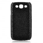Protective Glittery Paillette PC Plastic Case for Samsung i9300 Galaxy S3 - Black