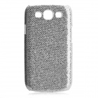 Protective Glittery Paillette PC Plastic Case for Samsung i9300 Galaxy S3 - Silver