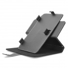 "Universal Protective 360 Degree Rotation PU Leather Case for 7"" Tablet - Black"