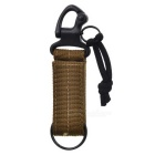 High Quality Hook Strap Keychain Cool Accessories for Backpack Bag - Army Green + Black