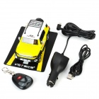 "VST Car Model Style Rechargeable 1.2"" LED Multi-Band Radar Detector w/ SD / 512MB RAM - Yellow"