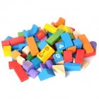 80-in-1 Number Pattern Intellectual Development Wooden Block Building Toy - Multicolored