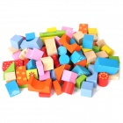 88-in-1 Happy Farm Wooden Block Building Toy - Multicolored