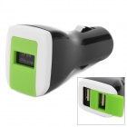 Dual USB Auto Zigarette Powered Adapter Charger w / USB-Kabel für iPod / iPhone - Schwarz (DC 12V)