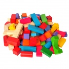 100-in-1 Intellectual Development Wooden Block Building Toy - Multicolored