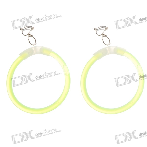 6-inch Earrings Glowsticks with Connection Joints and Hooks (4-Earring Set)