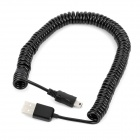 USB Male to Mini USB Male Connection Cable - Black (3m)