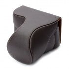Protective PU Leather Case Bag for Sony NEX-F3 Camera - Brown