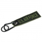 Flying Eagle Woven Label Multifunction Carabiner Clip Keychain Set - Green + Black