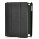 ROCK Protective PU Leather Case for Ipad 2 / The New Ipad - Black