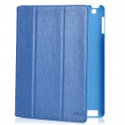 ROCK Protective PU Leather Case for Ipad 2 / The New Ipad - Blue
