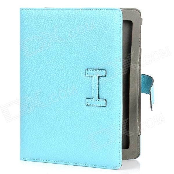 Protective PU Leather Case for Ipad 2 / The New Ipad - Blue vintage envelope style protective pu leather case for ipad 2 the new ipad blue