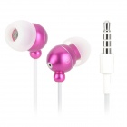 Stylish In-Ear Earphone w/ Microphone for Cell Phone / MP3 / MP4 - Purple (3.5mm Jack)