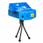 Icubot LS-01 50mW Green + 100mW Red Laser Stage Lighting Projector w/ Tripod - Blue (AC 100~240V)
