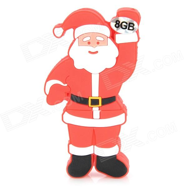 Christmas Santa Claus Style USB 2.0 Flash Drive - Red (8GB)