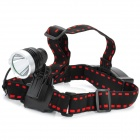 New-882 Cree XM-L T6 800lm 5-Mode White Light Headlamp - Black + Silver (1 x 18650)