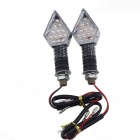 DIY Motorcycle Decoration 13-LED Yellow Turn Lights - Grey + White (DC 12V / 2 PCS)