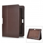 Protective Flip Open PU Leather Case for ASUS Transformer Pad TF700T / TF700 - Brown