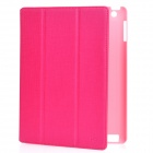 ROCK Protective PU Leather Case for Ipad 2 / The New Ipad - Deep Pink