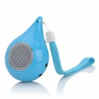 Water Drop Style Rechargeable MP3 Player Speaker w/ TF / 3.5mm Jack - Blue