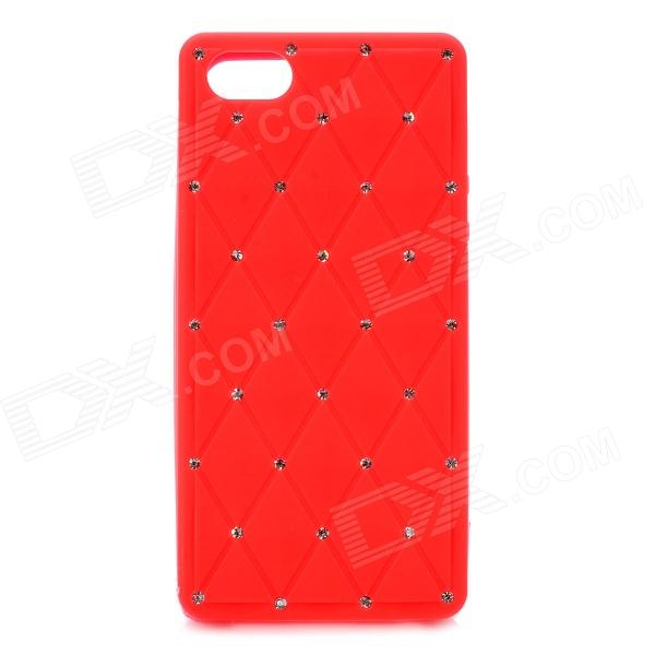 Crystal Protective Silicone Back Case for Iphone 5 - Red stylish bubble pattern protective silicone abs back case front frame case for iphone 4 4s