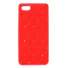 Crystal Protective Silicone Back Case for Iphone 5 - Red