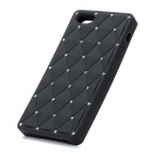 Crystal Protective Silicone Back Case for Iphone 5 - Black