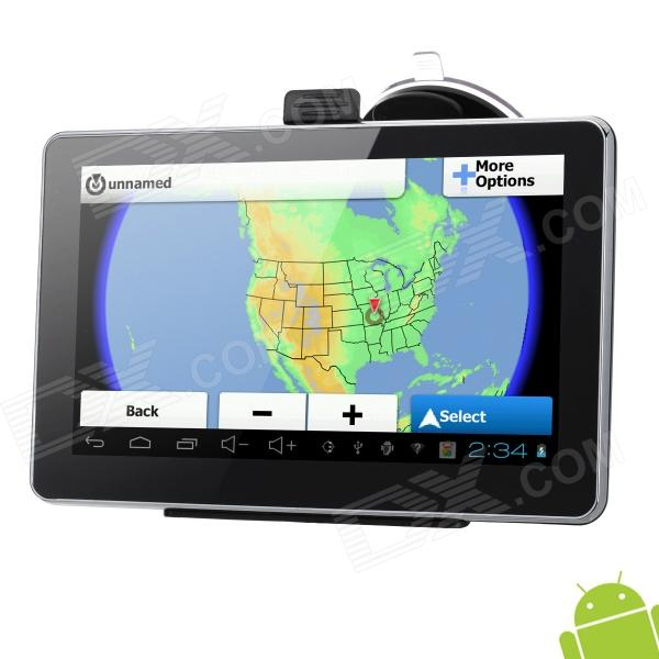 7 Resistive Screen Android 4.0 GPS Navigator w/ America Map / Wi-Fi / Built-in 8GB Memory ultra thin 7 touch screen lcd wince 6 0 gps navigator w fm internal 4gb america map light blue