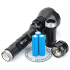 UltraFire 9T6 4500lm 5-Mode Memory White Light Flashlight - Black (2 x 18650)