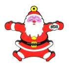Christmas Santa Claus Style USB 2.0 Flash Drive - Dark Red (8GB)