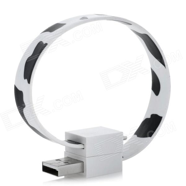 Magnetic USB 2.0 Male to Micro USB Male Data / Charging Cable - White + Black (18cm) usb male to micro usb male data charging cable for samsung htc sony xiaomi lg more black
