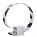 Magnetic USB 2.0 Male to Micro USB Male Data / Charging Cable - White + Black (18cm)