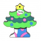 Colorful Christmas Tree Style USB 2.0 Flash Drive - Green (16GB)