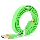 Flat USB Male to Micro USB Data / Charging Cable for Kindle 3 / 4 / Touch / Fire - Green
