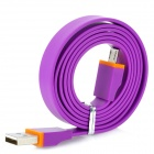 Flat USB Male to Micro USB Data / Charging Cable for Kindle 3 / 4 / Touch / Fire - Purple