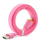 Flat USB Male to Micro USB Data / Charging Cable for Kindle 3 / 4 / Touch / Fire - Pink