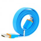 Flat USB Male to Micro USB Male Data / Charging Cable for Kindle 3 / 4 / Touch / Fire - Blue (90cm)