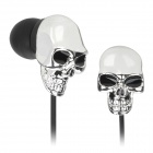 Skull Style In-Ear Earphone - Silver + Black (3.5mm Plug / 120cm-Cable)