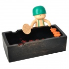 Cute Solider Roasting Meat Style Ashtray - Black + Red + Green