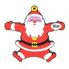 Christmas Santa Claus Style USB 2.0 Flash Drive - Dark Red (4GB)